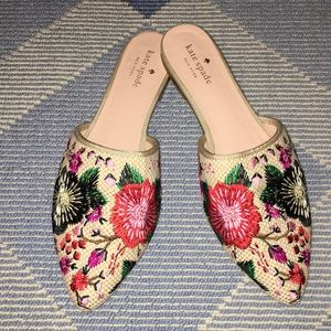 Kate Spade floral mules